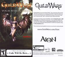 Guild Wars : Aion Wings Emote Code : RARE :  *BRAND NEW*