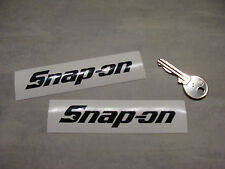 2 stickers SNAP ON tools Noir 10cm Auto Moto decal pegatinas aufkleber A165-070