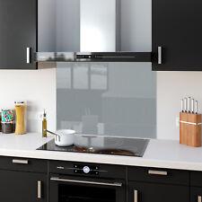 Shades Of Silver Toughened Glass Kitchen Splashback Panels Any Size & Colour