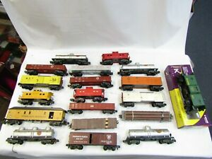 AMERICAN FLYER ROLLING STOCK ASSORTMENT S SCALE 19 PIECES PRE OWNED AS IS