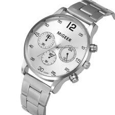 Migeer Hombre Piloto Militar 40mm Cuarzo Acero Inoxidable Reloj Deportivo