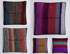 10 PC Wholesale Lot Stripe Ottoman Square Cushion Cover Sofa Pillow Case Throw