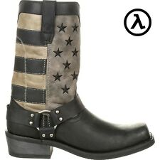 "DURANGO BLACK FADED FLAG 11"" HARNESS BOOTS DDB0141 * ALL SIZES - NEW"
