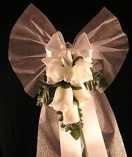 10 Pew End Bows Wedding Church Venue Decorations Personalised  plain 'ELISE''