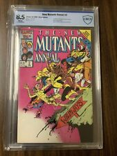 THE NEW MUTANTS ANNUAL # 2 CBCS 8.5 WHITE PAGES 1ST PSYLOCKE NOT CGC