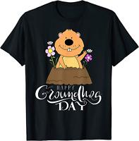 Groundhog Day 2021 Happy Ground Hog Funny Men Women Kids T-Shirt