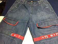 MARITHE & FRANCOIS GIRBAUD Jeans W/ Shuttle Tape Sz 40M 40x33