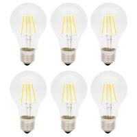 6X 4W Dimmbar E27 A60 Glühbirne LED Edison Lampe Vintage Filament Birne Warmweiß