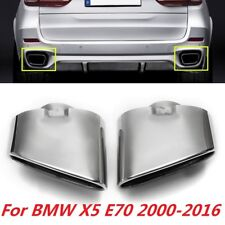 Pair Dual Exhaust Muffler Tail Pipe Tip Stainless Steel For BMW X5 E70 00-16 US
