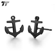Stud Earrings (Ec99) New Tt Black Stainless Steel Ancor