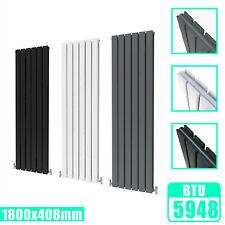 Tall Vertical Oval Panel DESIGNER 1800x354mm Double Column Radiator White