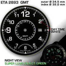 DIAL FOR MOVEMENT ETA 2893-2 GMT, Ø 34.5 MM BLACK