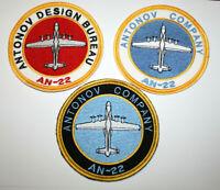 SET 3 PATCH AVIATION AIR PLANE AN-22 ANTONOV AIRLINES WAYS CARGO CRAFT