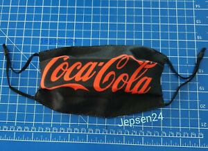Mund Nase Maske Schwarz Rot, Coca Cola - Stoff waschbar und verstellbar