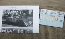 1/24 DECALS FERRARI 612P CAN AM #16 BRIDGEHAMPTON, OTHERS 1969 CARTOGRAF PRINTED