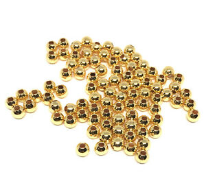 18kt gold plated beads 4mm seamless round