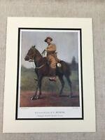 1900 Antico Militare Stampa The Boer War Edward Bethune British Ufficiale