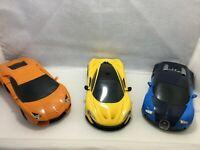 3x airfix 1/72 bugatti Veyron, Lamburguini, Maclaren Bundle unboxed