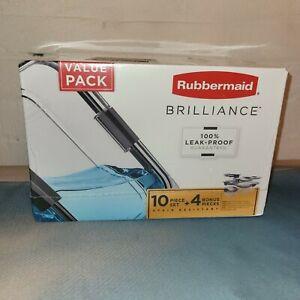 Rubbermaid Brilliance Storage 14-Piece Set BPA Free Leak Proof Food Storage NEW
