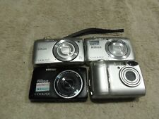 Lot of 4 Nikon COOLPIX S3500, S3100, S3700, and Coolpix 4500 For Parts