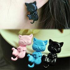 New Puppy Womens Fashion Jewelry Stereoscopic Cat Ear Stud Earrings PINK