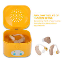 Electric Hearing Aid Disinfection Dryer Drying Case Box Dehumidifier 4/8 Hours