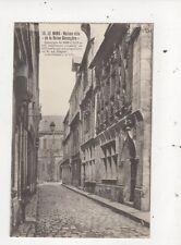 Le Mans Maison De La Reine Berengere France Vintage Postcard 796a