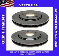 Verto USA Set Of 2 Premium Front Disc Brake Rotors  53051X2