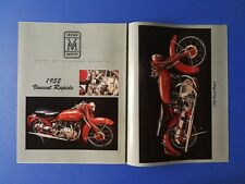 1952 Vincent Rapide Motorcycle - Original 2 Page Photo Poster