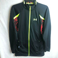 Under Armour NFL Combine Track Jacket Mens Size Small Full Zip Black Loose