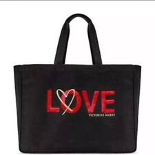 New 2018 Victoria Secret Limited Edition Black With Red Sequin Love Tote Bag