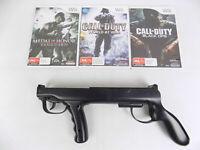 Nintendo Wii Shooting Bundle - Gun + 3x Games Black ops World at War Vanguard