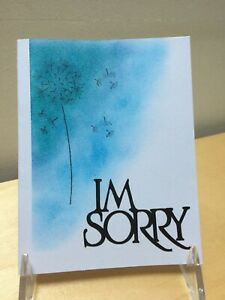Dandelion 'I'm Sorry': handmade greeting card