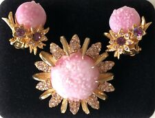 Chanel rival,  Extremely Rare vintage Elsa Schiaparelli earrings and brooch