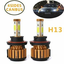2x 9008 H13 4 Sides Car LED Headlight Kit 6500K White Hi/Low Beam Lighting Bulbs