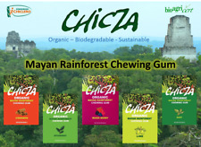 Chicza Organic Chewing Gum - Mint Spearmint Lime Cinnamon Mixed Berry Coffee