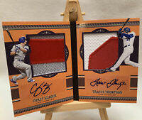 2016 Prime Cuts Corey Seager Trayce Rookie Patch Auto Book Card 8/10 RC Dodgers!