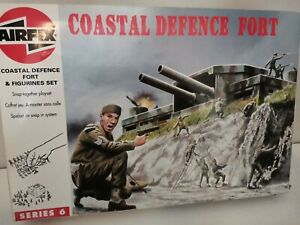 Boîte fort coastal defence 06706 soldats anciens airfix ww2 figurines 1/72