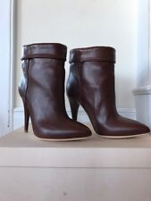 NEW Loeffler Randall Emory Brown Ankle Boot/Booties Size 6/36 Italian Leather
