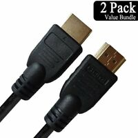 Cable HDMI (6 Feet/Gold-Plated) High Speed CERTIFIED 2 Pack