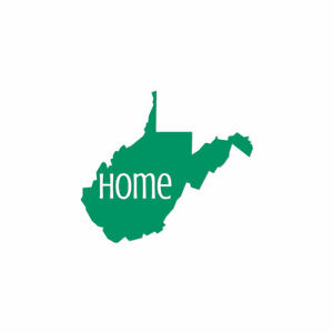 West Virginia Home State - Decal Sticker - Multiple Colors & Sizes - ebn3850
