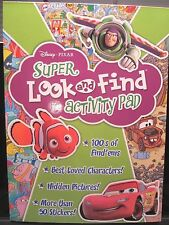 Disney Pixar Super Look and Find Activity Pad with 50+ Stickers NEW