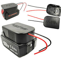 18V Durable Li-Ion Battery Converter to DIY Cable Output Adapter Replace Zubehör