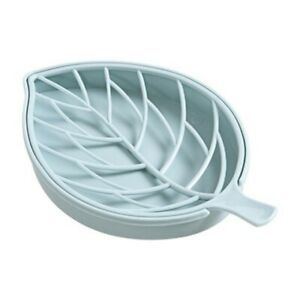 Creative Leaf Shape Soap holder box case drain dish tray cup bathroom shower