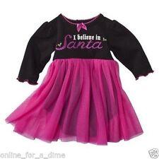 Baby Glam Christmas Dress I Believe In Santa Tutu Skirt Creeper Berry 9 Months