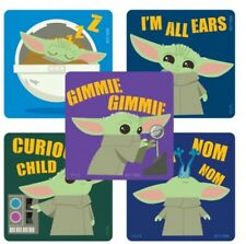20 Mandalorian :The Child Baby Yoda  Cuties Stickers Birthday Party Favors