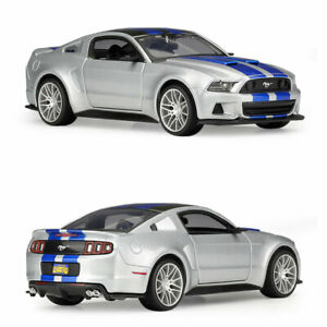 2014 Ford Mustang Street Racer 1:24 Model Car Diecast Gift Toy Vehicle Silver