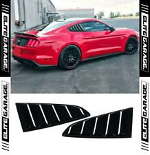 Ford MUSTANG GT - Side Window Louvers SHARK FINS Matte Black (15-18) Ecoboost