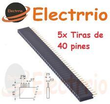 EL2241 Lote 5 x Tira 40 Pines Hembra Pin 2,54 mm Pins PCB Arduino Electronica