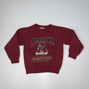 Toddler Vintage 90s Alabama Crimson Tide Crewneck Sweatshirt Size Toddler Large